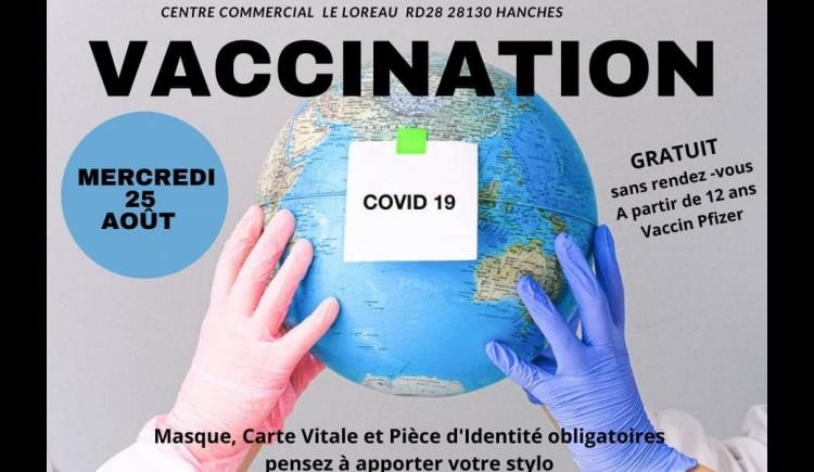 photo Un centre de vaccination éphémère à Hanches