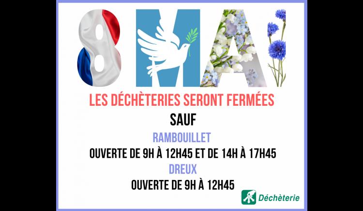 photo Fermeture de la déchèterie de Droue-sur-Drouette le 8 mai