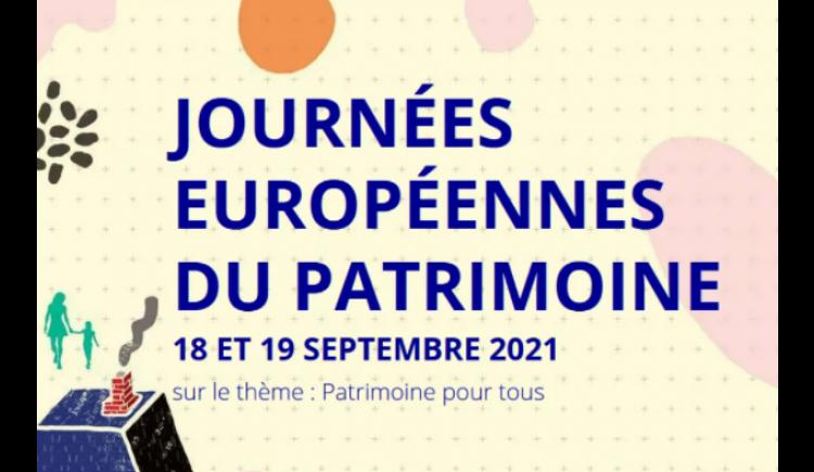 photo Journées Européennes du Patrimoine  -  les 18 et 19 septembre 2021