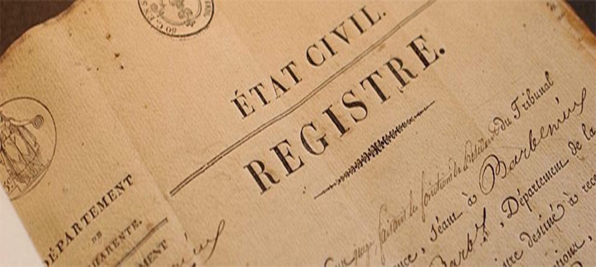 registre etat-civil