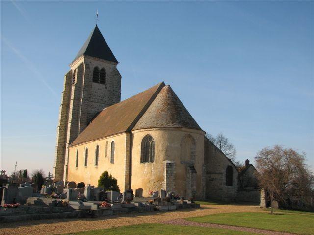 Eglise vue du columbarium